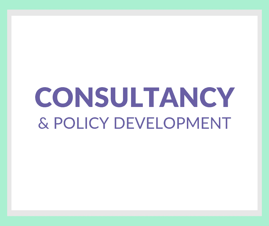 Consultancy & Policy Development